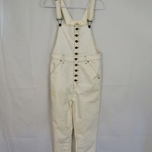 ONEILL IVORY BUTTON DOWN OVERALLS